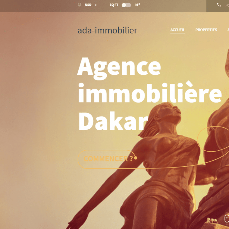 création de site web adaimmobilier
